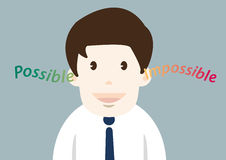 Happiness businessman possible thinking Stock Images