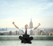Happiness businessman Royalty Free Stock Photos