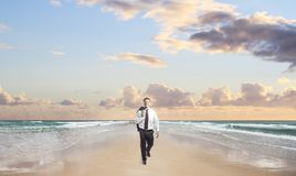 Happiness businessman walking Royalty Free Stock Photography