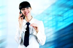 Happiness Businesswoman Royalty Free Stock Photography