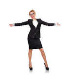 Happiness businesswoman Royalty Free Stock Image