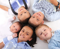 Happiness children. On the white Royalty Free Stock Photography