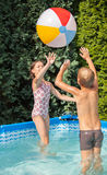 Happiness children at pool Royalty Free Stock Photos