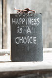 Happiness is a choice text Royalty Free Stock Photography
