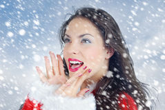Happiness in Christmas Royalty Free Stock Photos