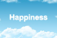Happiness - cloud word Royalty Free Stock Photos