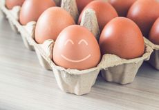 Happiness Concept Background. Happiness concept, egg smile on vintage background stock photography