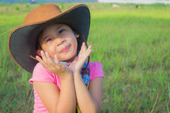 A cowgirl on a field Stock Photos