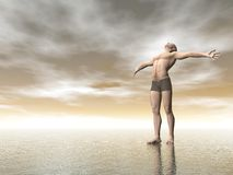 Happiness - 3D render Royalty Free Stock Photography