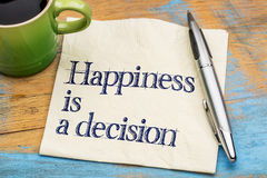 Happiness is a decision Royalty Free Stock Image