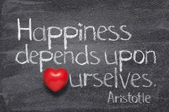 Happiness depends Aristotle royalty free stock photos