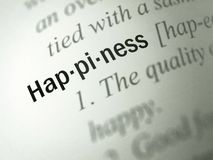 Happiness - Dictionary Definition Royalty Free Stock Photography