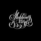 Happiness is easy hand lettering positive inscription Royalty Free Stock Photo