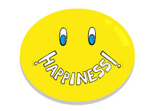 Happiness Emoticon concept. Editable Clip Art. stock illustration