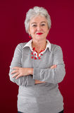 Happiness in every phase of life - older attractive woman. Portrait of older attractive woman Royalty Free Stock Images