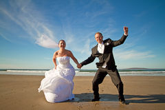 Happiness expression of married couple Royalty Free Stock Photo