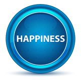 Happiness Eyeball Blue Round Button. Happiness Isolated on Eyeball Blue Round Button vector illustration