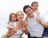 Happiness family Stock Photo