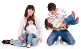 Happiness Family Royalty Free Stock Images
