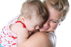 Happiness family. Loving young mother with a small daughter Stock Photography