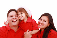 Happiness family in christmas Royalty Free Stock Images