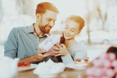 Happy Day for Girl. Smile Father and Daughter. stock photography