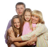 Happiness family Royalty Free Stock Photo