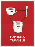 Happiness fit triangle funny illustration Stock Photo