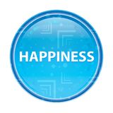 Happiness floral blue round button. Happiness Isolated on floral blue round button vector illustration