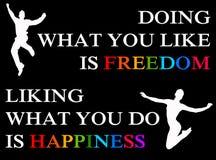 Happiness freedom Stock Photo