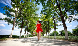 Happiness girl in nature Stock Photography