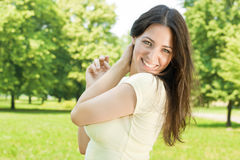 Happiness girl outdoors Stock Photography