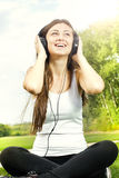 Happiness girl relaxing Stock Photography