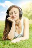 Happiness girl relaxing Stock Images