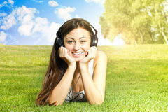Happiness girl relaxing Royalty Free Stock Photo