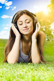 Happiness girl relaxing Royalty Free Stock Image