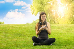 Happiness girl relaxing Royalty Free Stock Photography