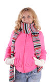 Happiness girl in warm clothes 3 Royalty Free Stock Photo