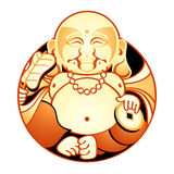 Happiness God. Hotei is one of Seven Lucky Japan Gods - God of Contentment & Happiness Stock Images
