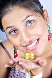 Happiness of gold Stock Photography