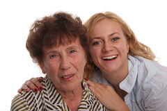 Happiness grandmother and granddaughter Royalty Free Stock Photography