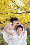 Happiness groom and bride Stock Photography