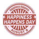 Happiness Happens Day Stock Photo