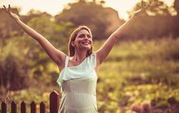 Happiness has arrived in my life royalty free stock photo