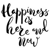 Happiness is here and now. Royalty Free Stock Photography