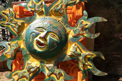 Happiness of an Iron Metal Sun Royalty Free Stock Photography