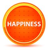 Happiness Natural Orange Round Button royalty free illustration