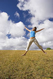 Happiness jump Stock Images