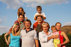 Happiness large family Royalty Free Stock Image