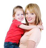 Happiness of mother andh daughter Royalty Free Stock Image